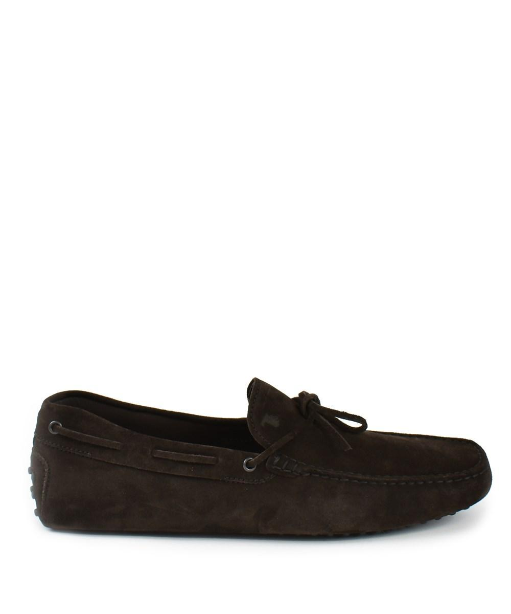 Tod's Gommino Suede Driving Shoe In Brown