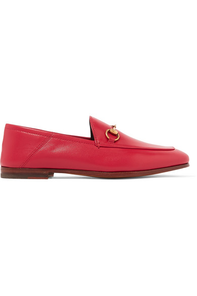 d6617ba5d06 Gucci Brixton Horsebit-Detailed Leather Collapsible-Heel Loafers In ...