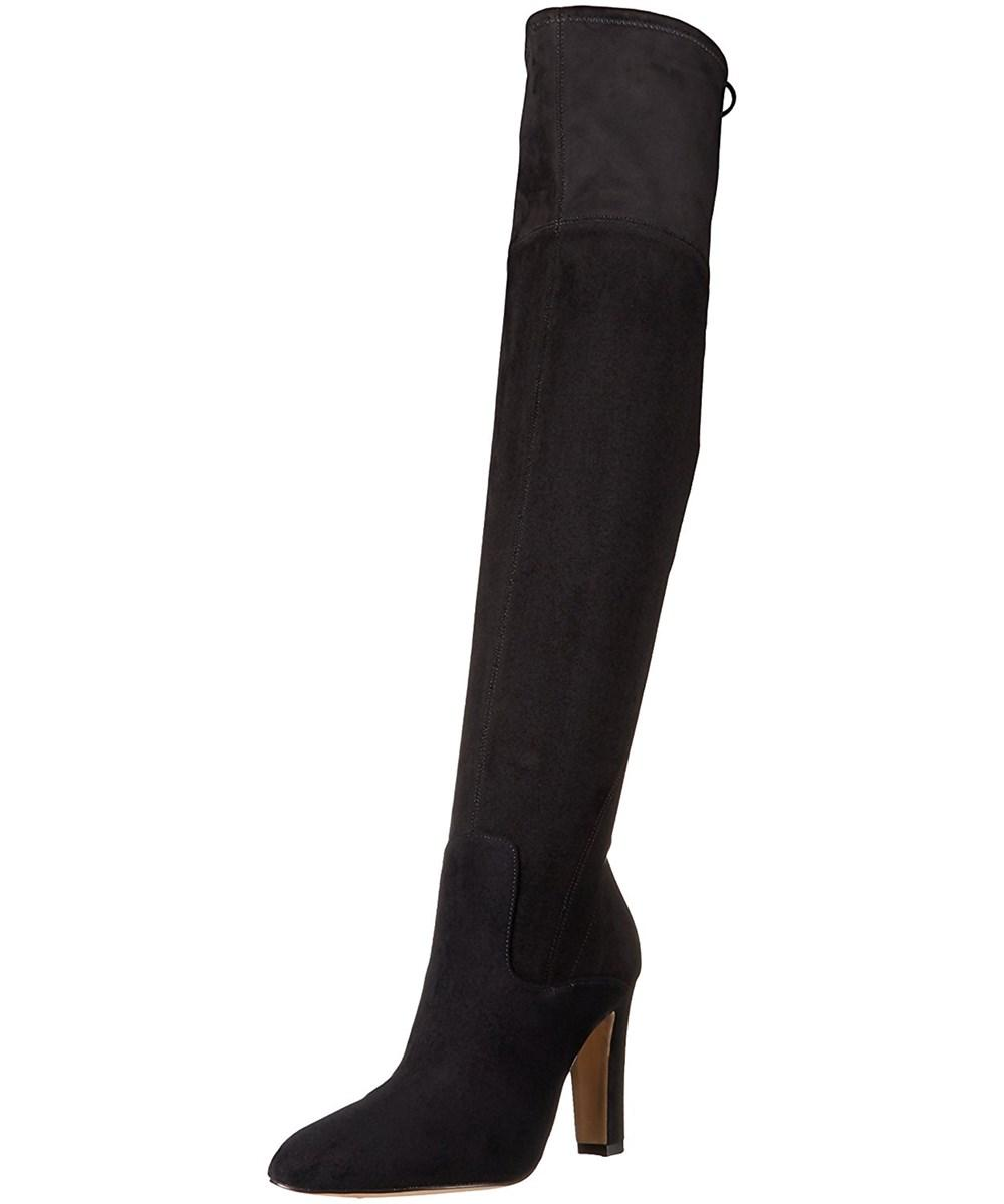 Ivanka Trump Womens Smith Suede Closed Toe Knee High Fashion Boots In Grey
