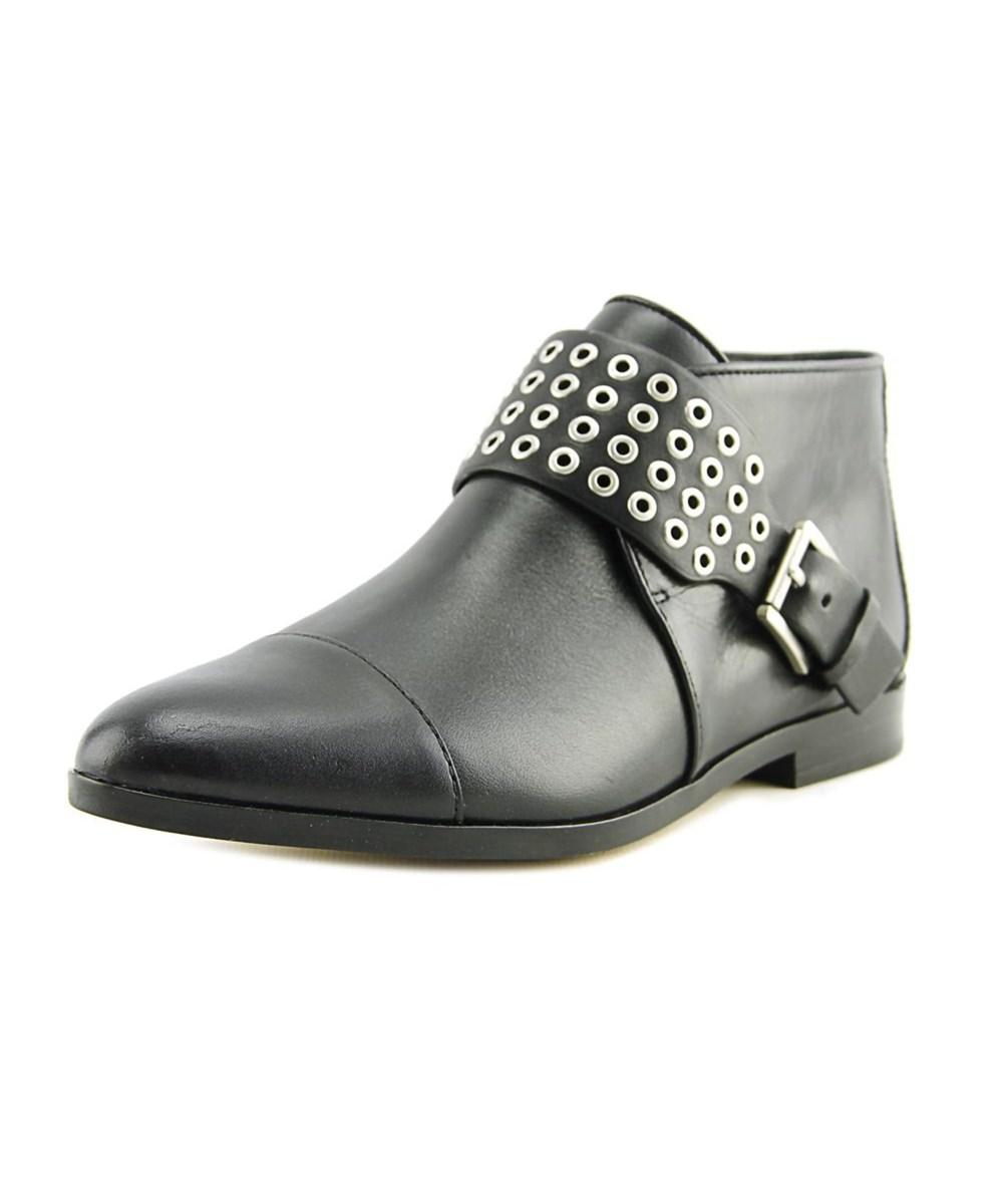 Michael Michael Kors Brody Flat Bootie Women  Round Toe Leather Black Bootie