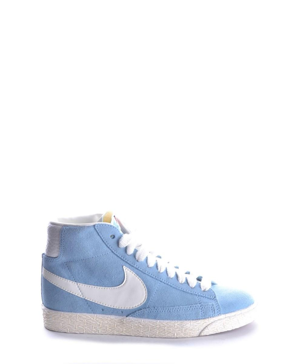 Nike Women's  Blue Suede Hi Top Sneakers