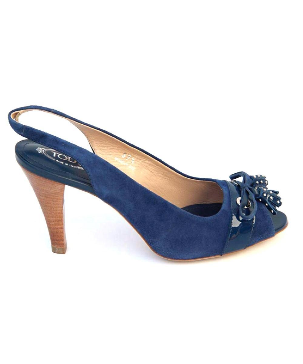 Tod's Ladies Sandal In Blue