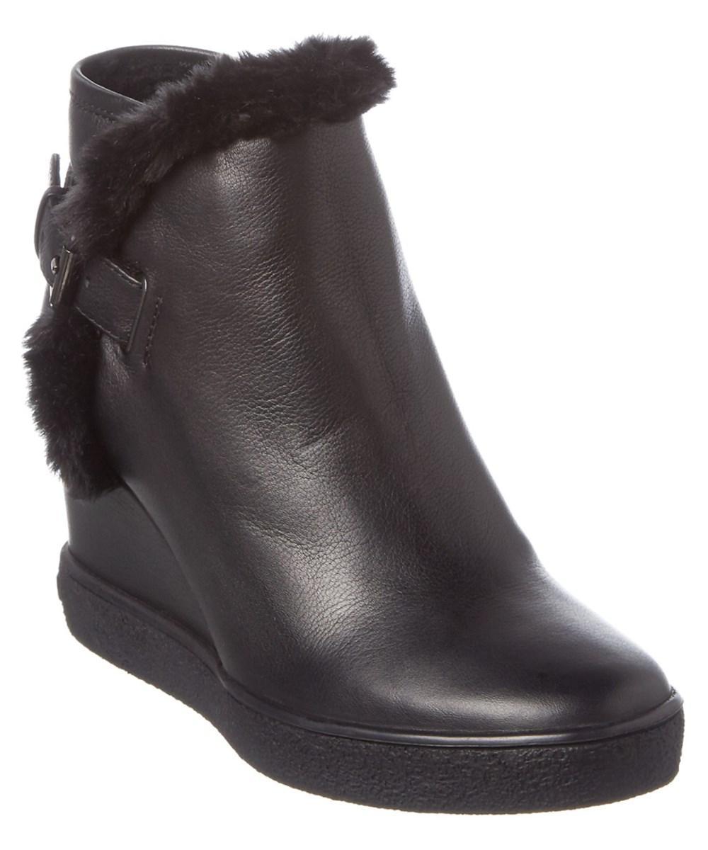 Aquatalia Cameron Waterproof Leather Bootie In Black