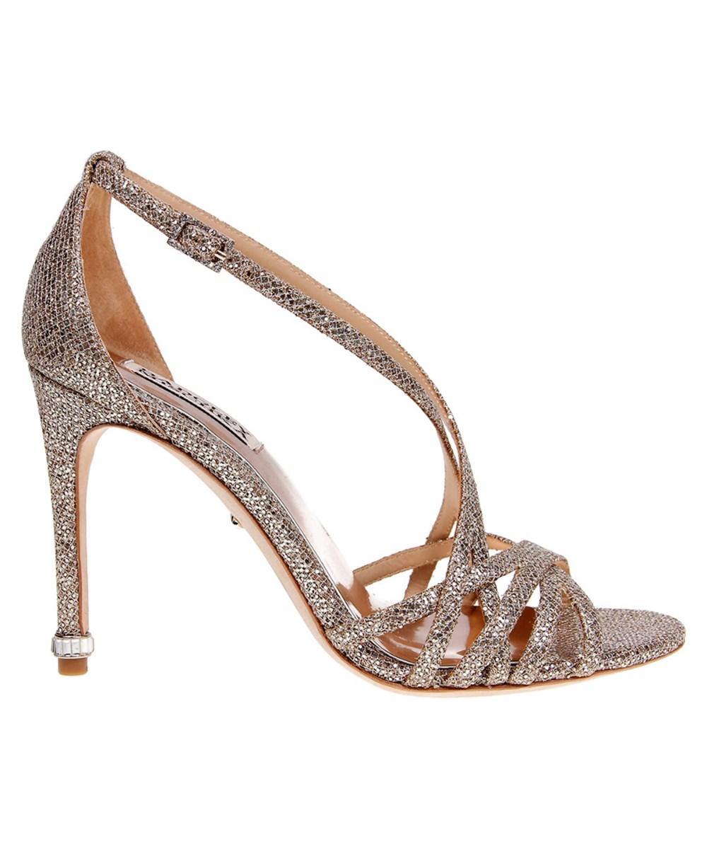 Badgley Mischka Tiller Sandal In Gold