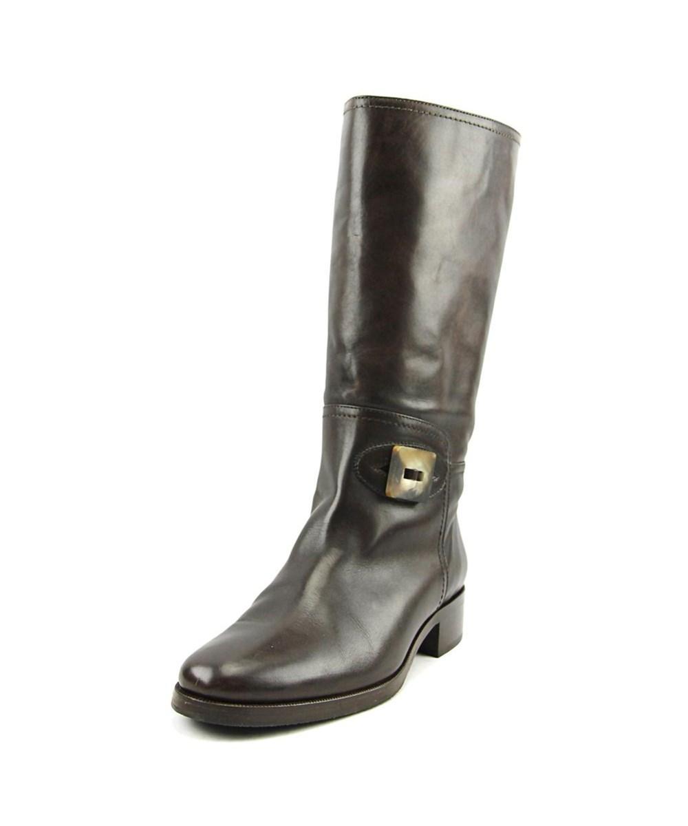 Bruno Magli Carcina Women  Round Toe Leather Brown Boot