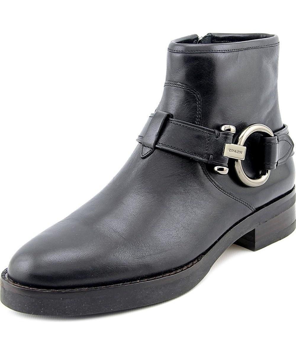 Coach Womens Eldridge Closed Toe Ankle Fashion Boots In Black