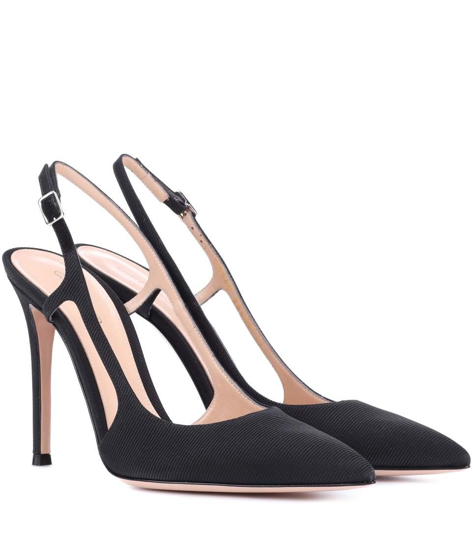 Gianvito Rossi Exclusive To Mytheresa.com - Grosgrain Slingback Pumps In Black