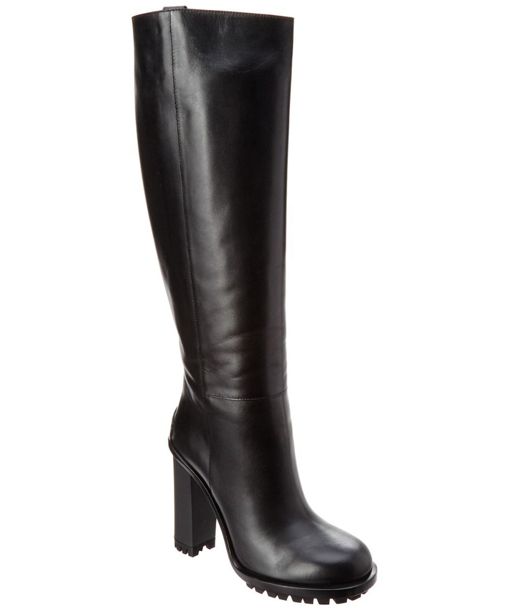 Gucci Leather Knee Boot In Black