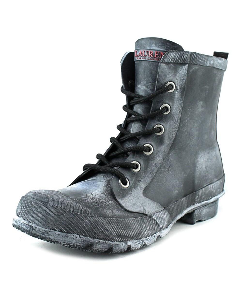 Lauren Ralph Lauren Mikenna-bo-rai Women  Round Toe Synthetic Black Rain Boot