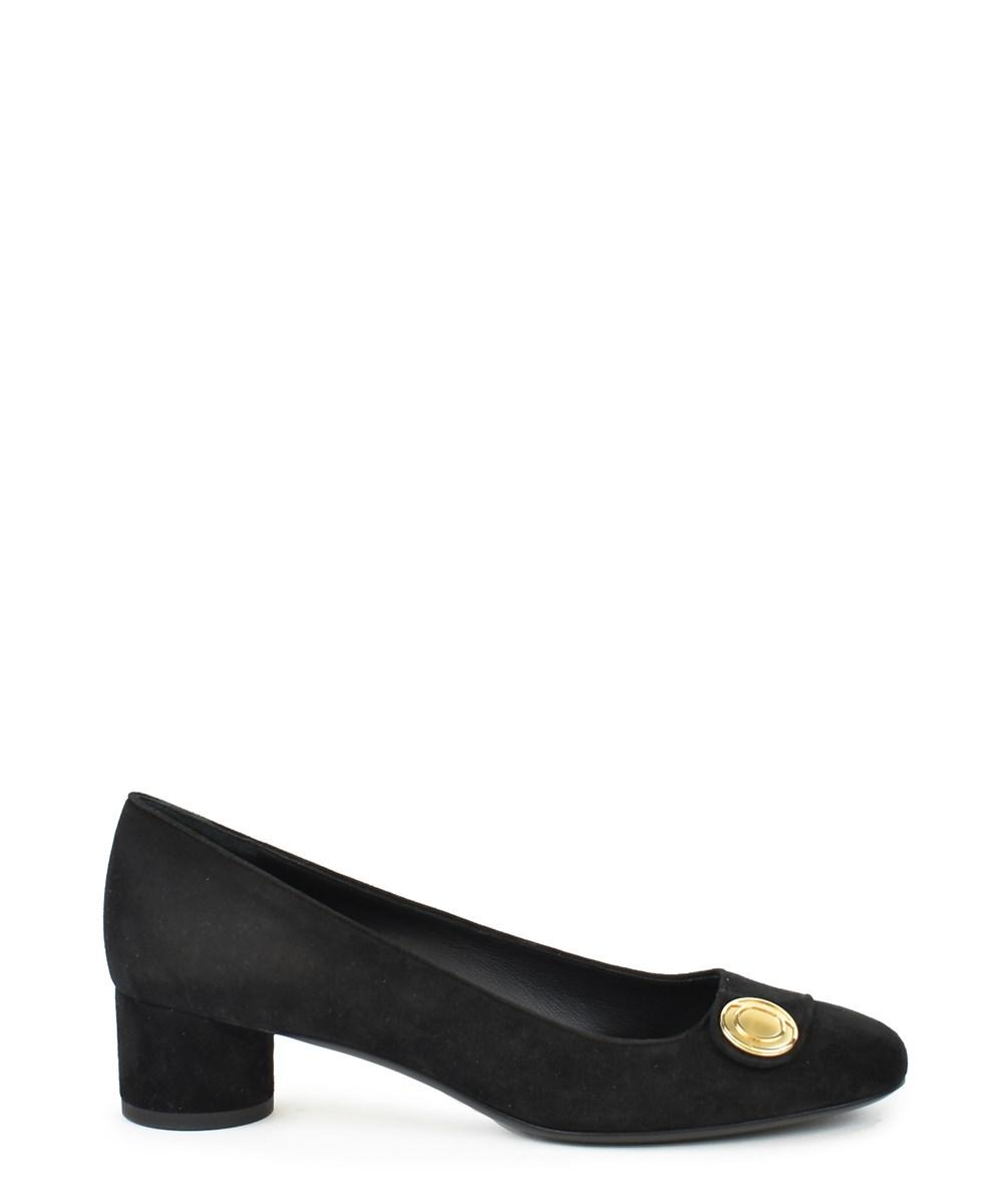 Salvatore Ferragamo Block Heel Pumps In Black