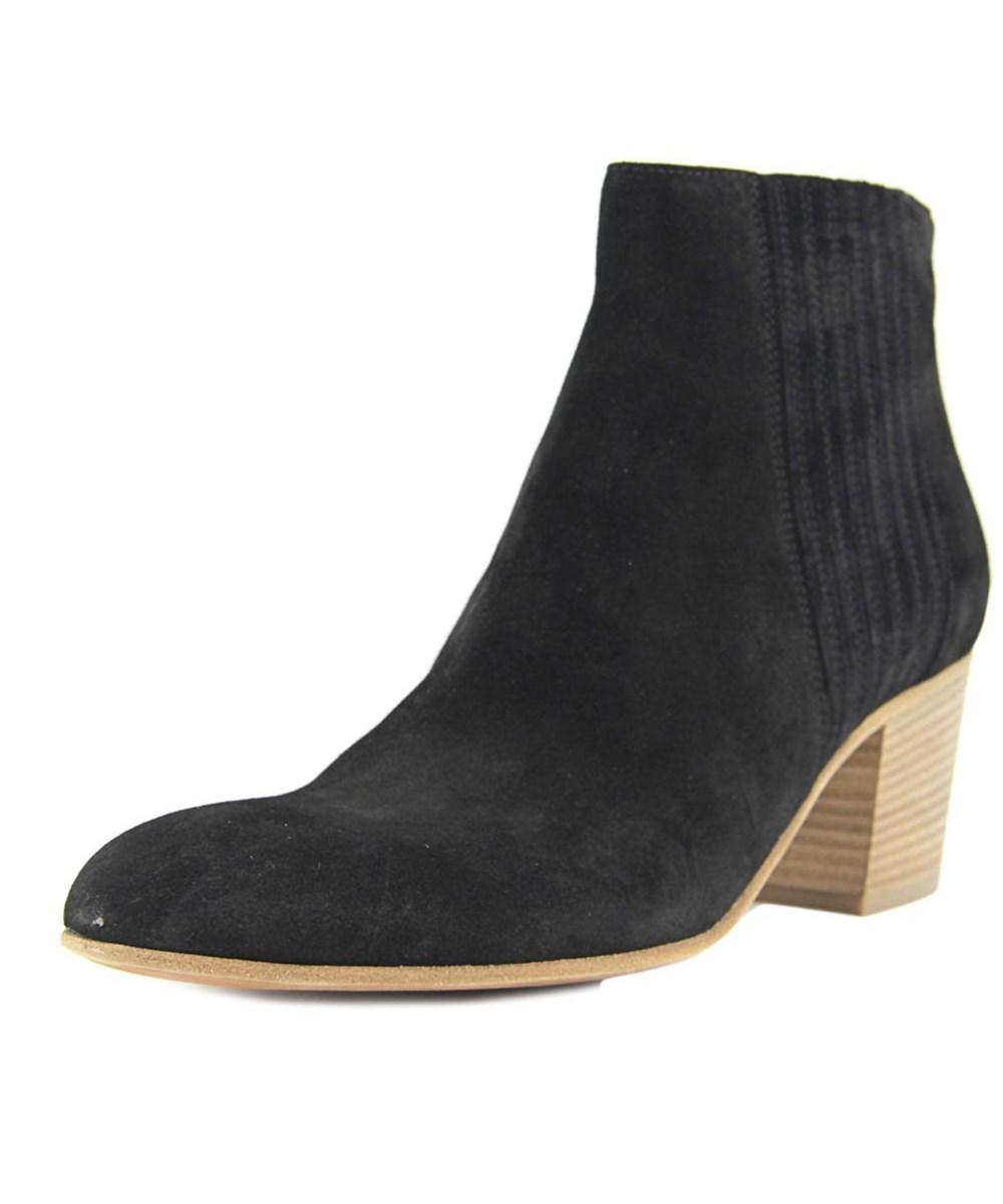 Vince Haider Women  Round Toe Suede Black Ankle Boot