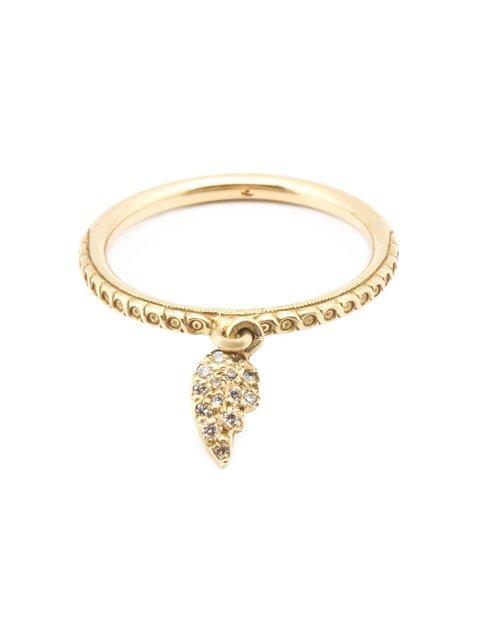 Loree Rodkin Broken Heart Diamond Charm Ring