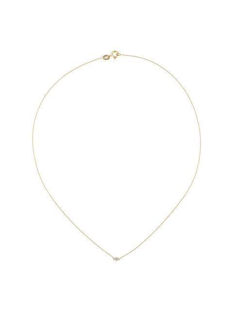 Wouters & Hendrix Gold 'baguette' Diamond Necklace - Yellow & Orange