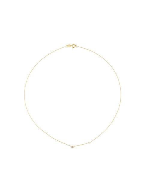 Wouters & Hendrix Gold 'baguette' Diamond Necklace - Metallic