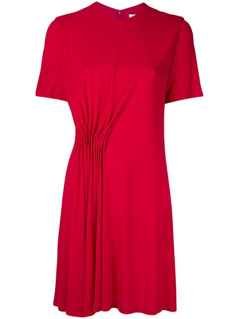 Givenchy Red Gathered Jersey Dress In Pink