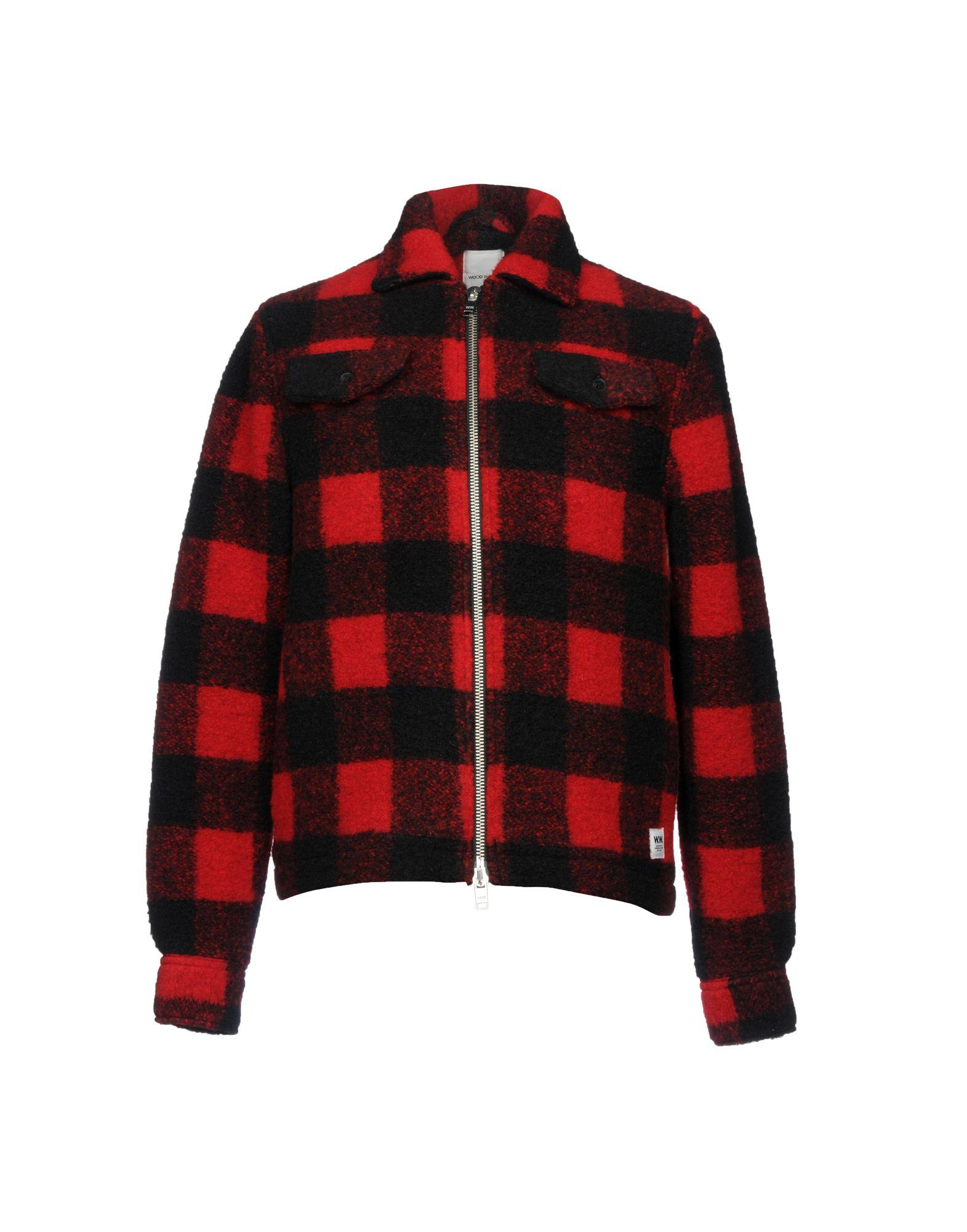 Wood Wood Jackets In Red