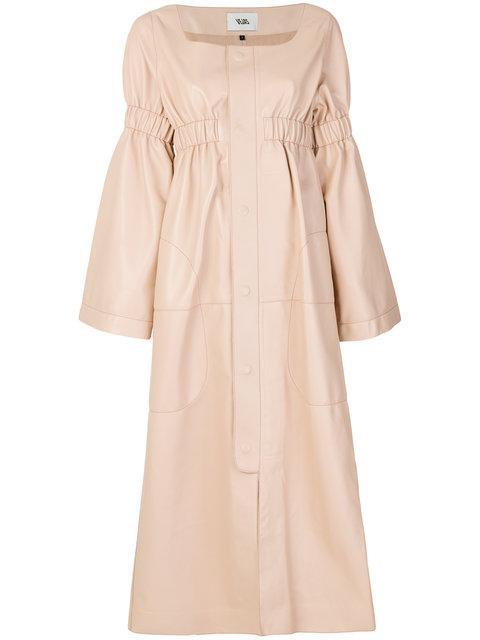 Vejas Empire Line Dress - Neutrals In Nude & Neutrals