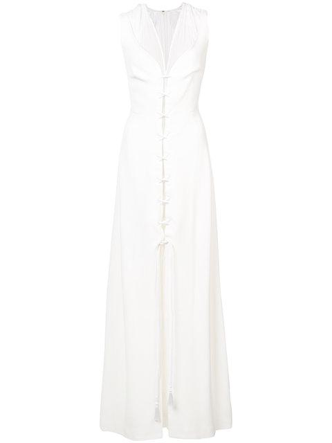 Derek Lam Lace-up Detail Layered Gown