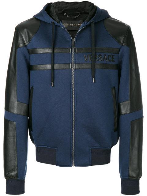 Versace Panelled Hooded Jacket