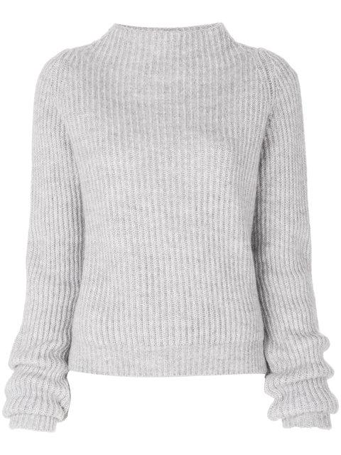 Anine Bing Emilie Funnel Neck Sweater - Grey