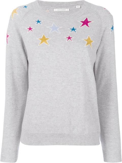 Chinti & Parker Stardust Sweater In Grey