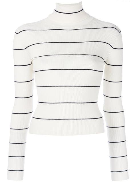 Theory Striped Cropped Sweater