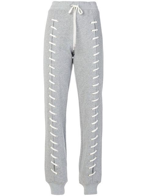 Jonathan Simkhai Lace-up Detail Track Pants - Grey