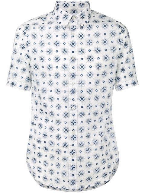 Alexander Mcqueen Pattern Print Shirt - Blue