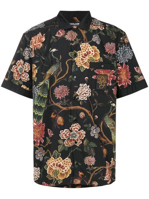 Dolce & Gabbana Flower And Leopard Print Shirt