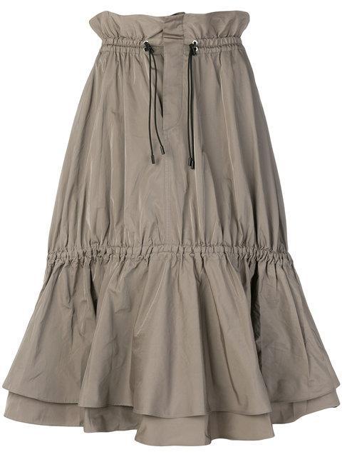 Jonathan Simkhai Drawstring Waist Skirt - Green