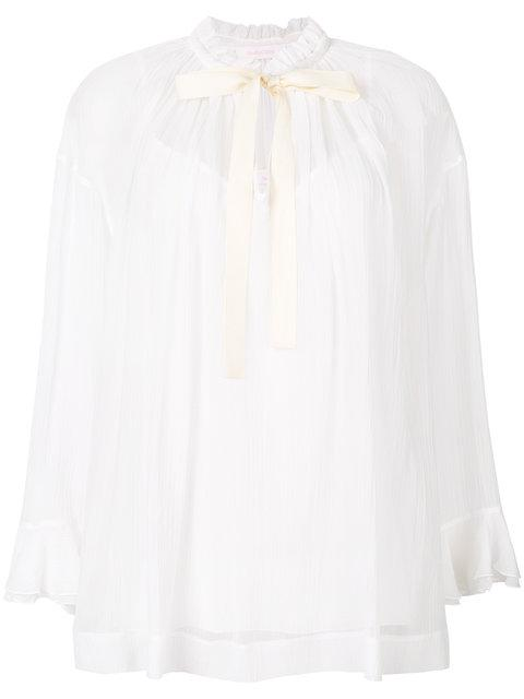See By ChloÉ Pussy Bow Gathered Blouse In White