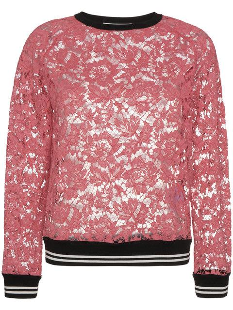 Valentino Lace Top In Pink & Purple