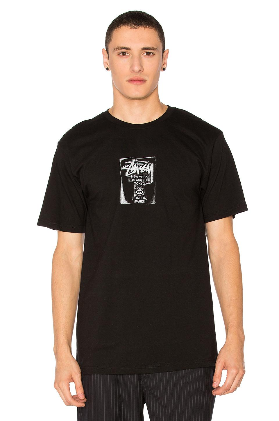 Stussy Wt Stamp Tee In Black & White.