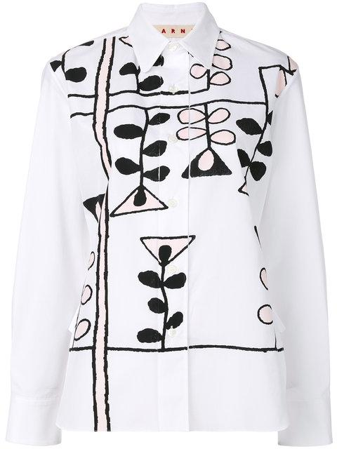 Marni Printed Shirt In White