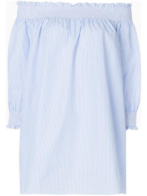 Vivetta Off Shoulder Striped Tunic