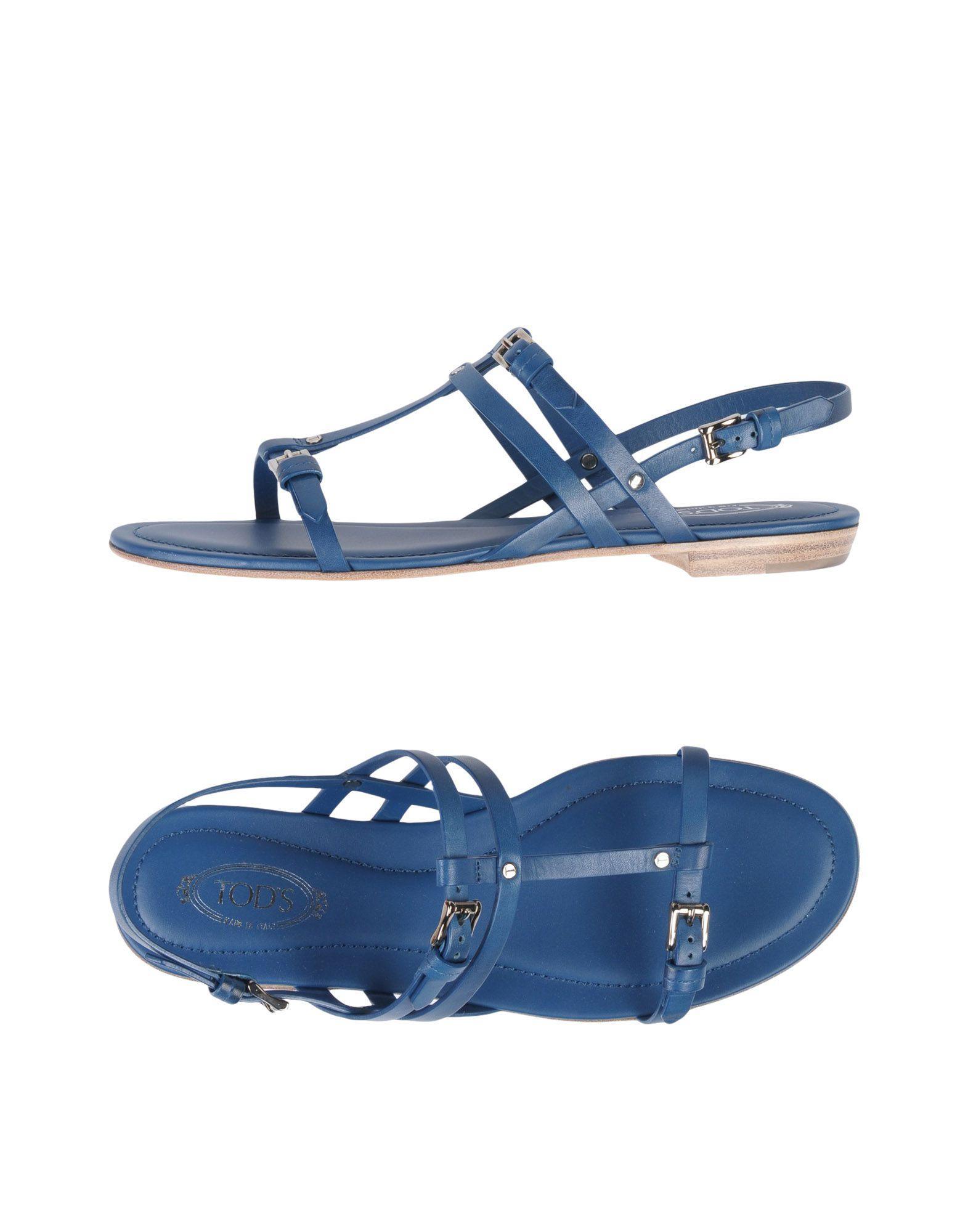 Tod's Sandals In Dark Blue