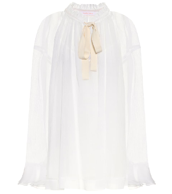 See By ChloÉ Cotton And Silk Blouse In White