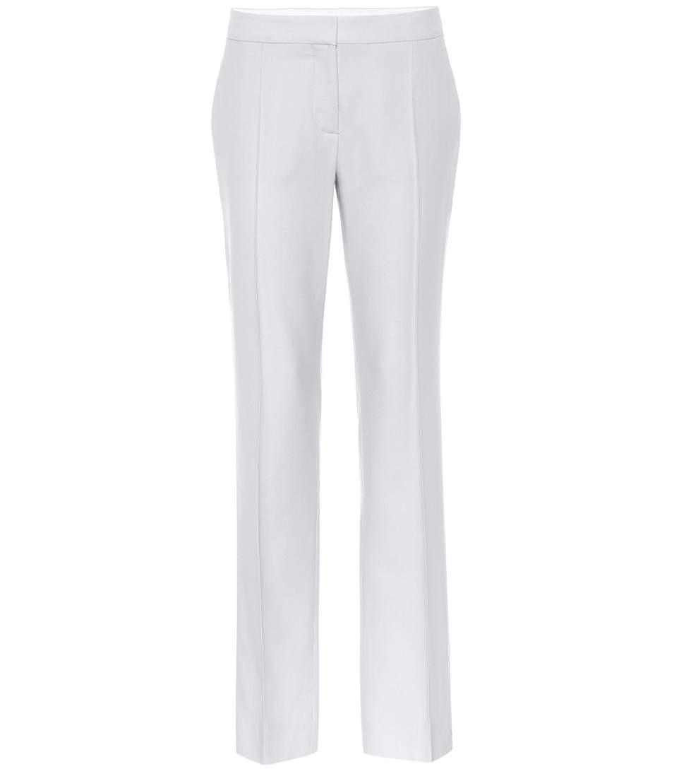 Stella Mccartney Wool Tailored Trousers In Grey