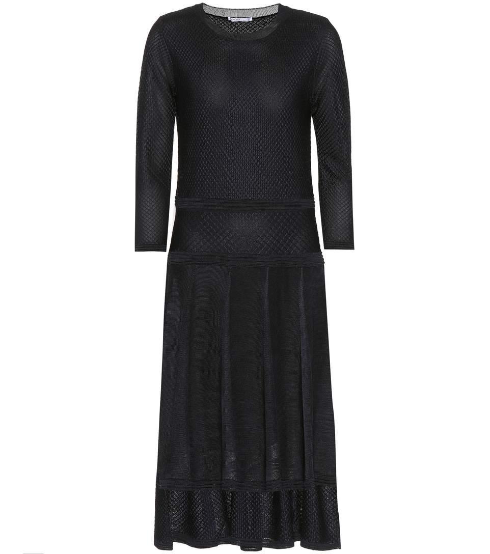 Agnona Jacquard Midi Dress In Blue