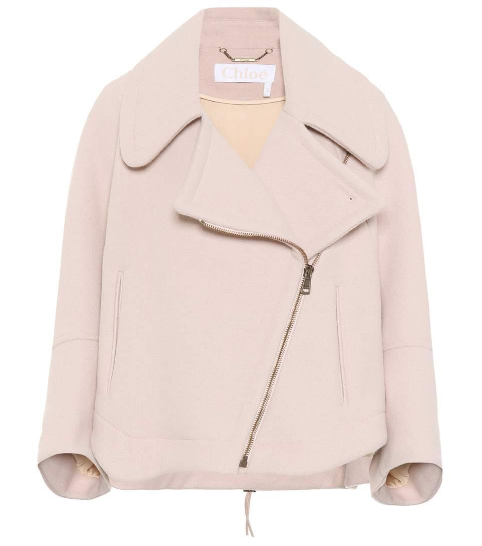 ChloÉ Virgin Wool Jacket In Rose Dust