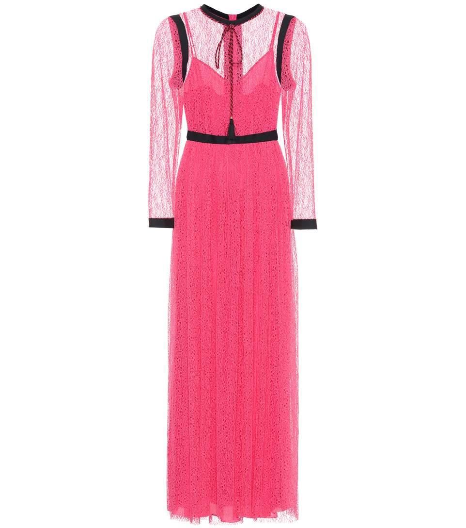 Philosophy Di Lorenzo Serafini Lace Maxi Dress In Pink