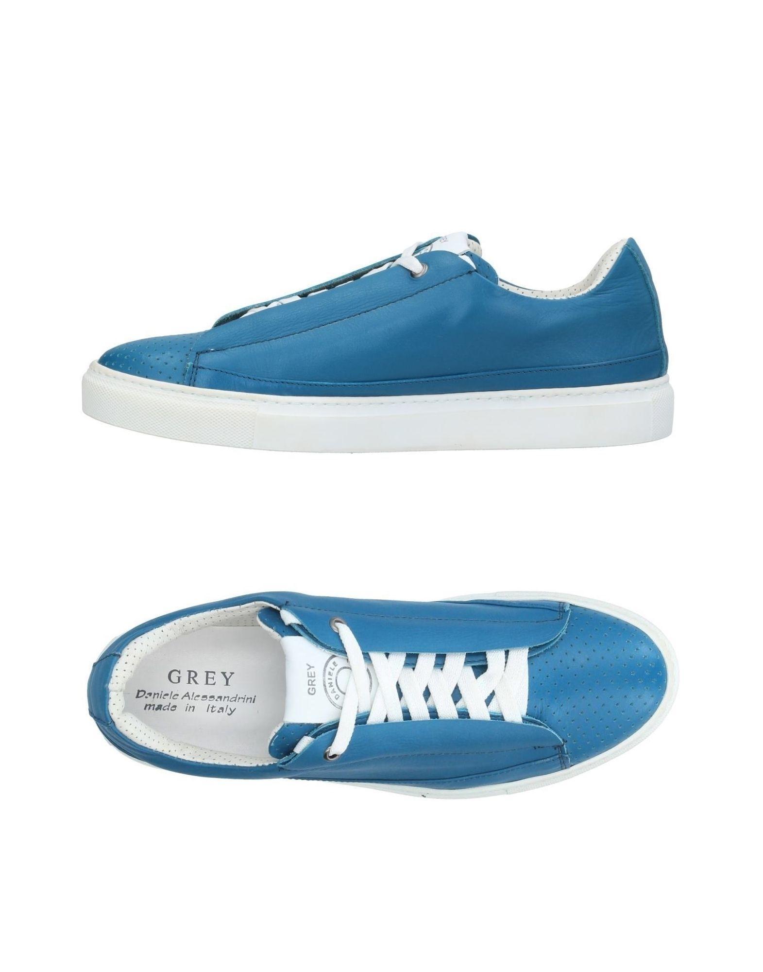 Grey Daniele Alessandrini Sneakers In Pastel Blue