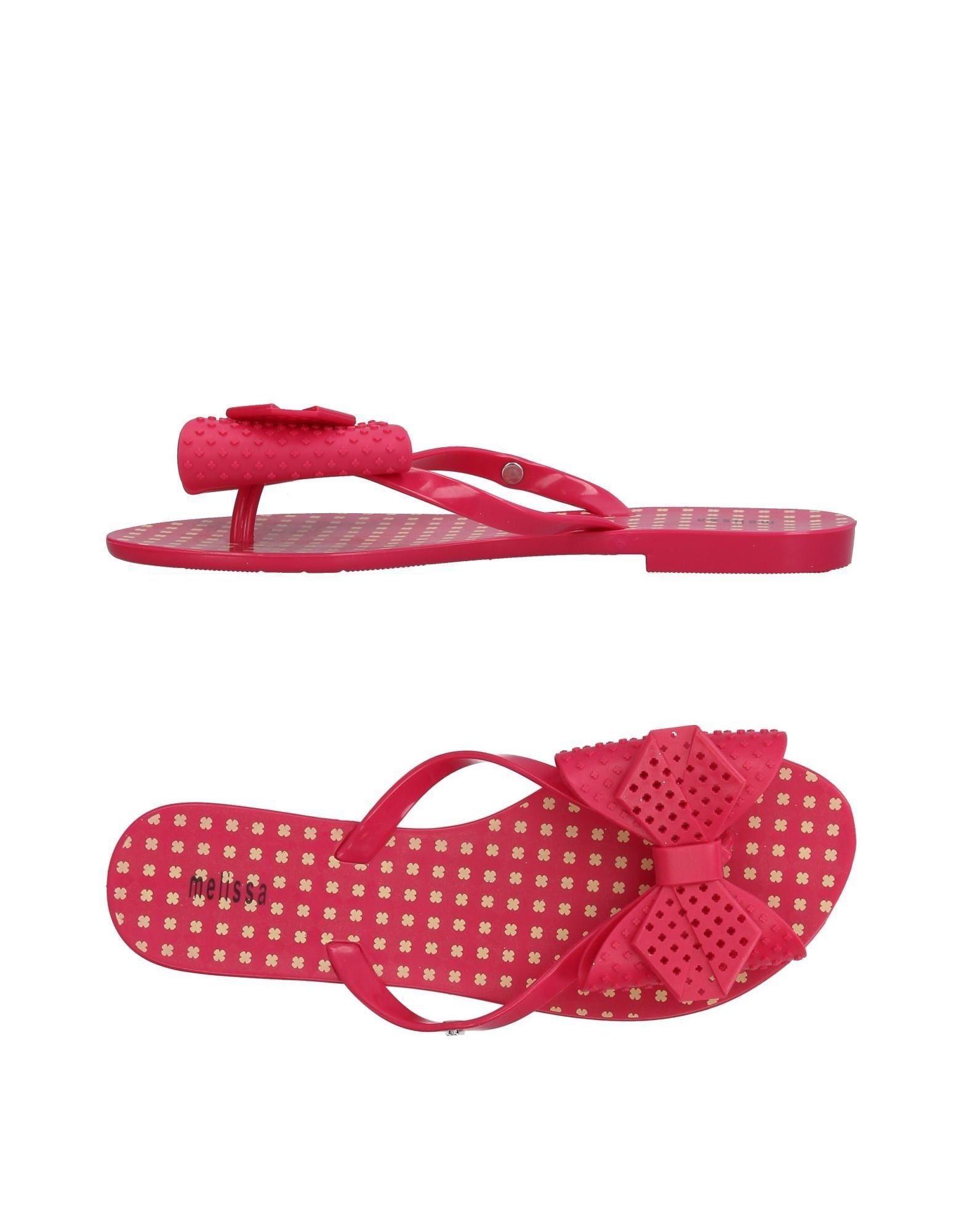 Melissa Toe Strap Sandals In Fuchsia