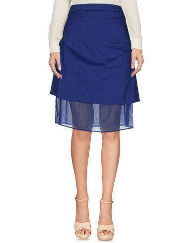 Liviana Conti Knee Length Skirt In Blue