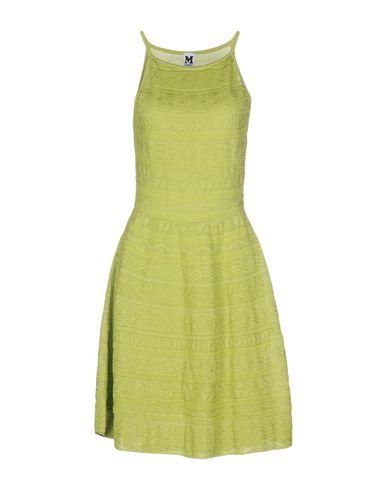 M Missoni Short Dresses In Acid Green