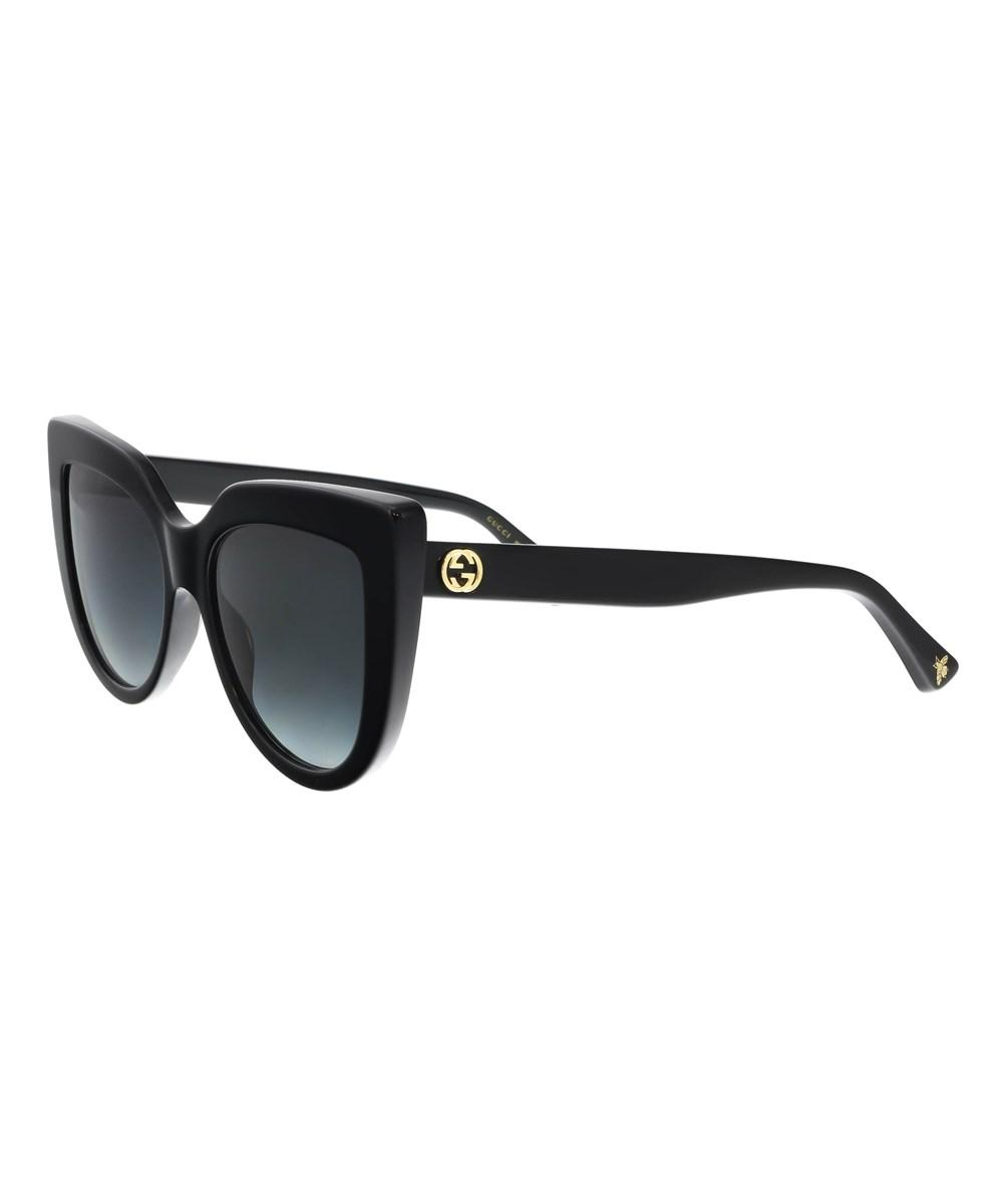 Gucci Gg0164s 001 Black Cateye Sunglasses