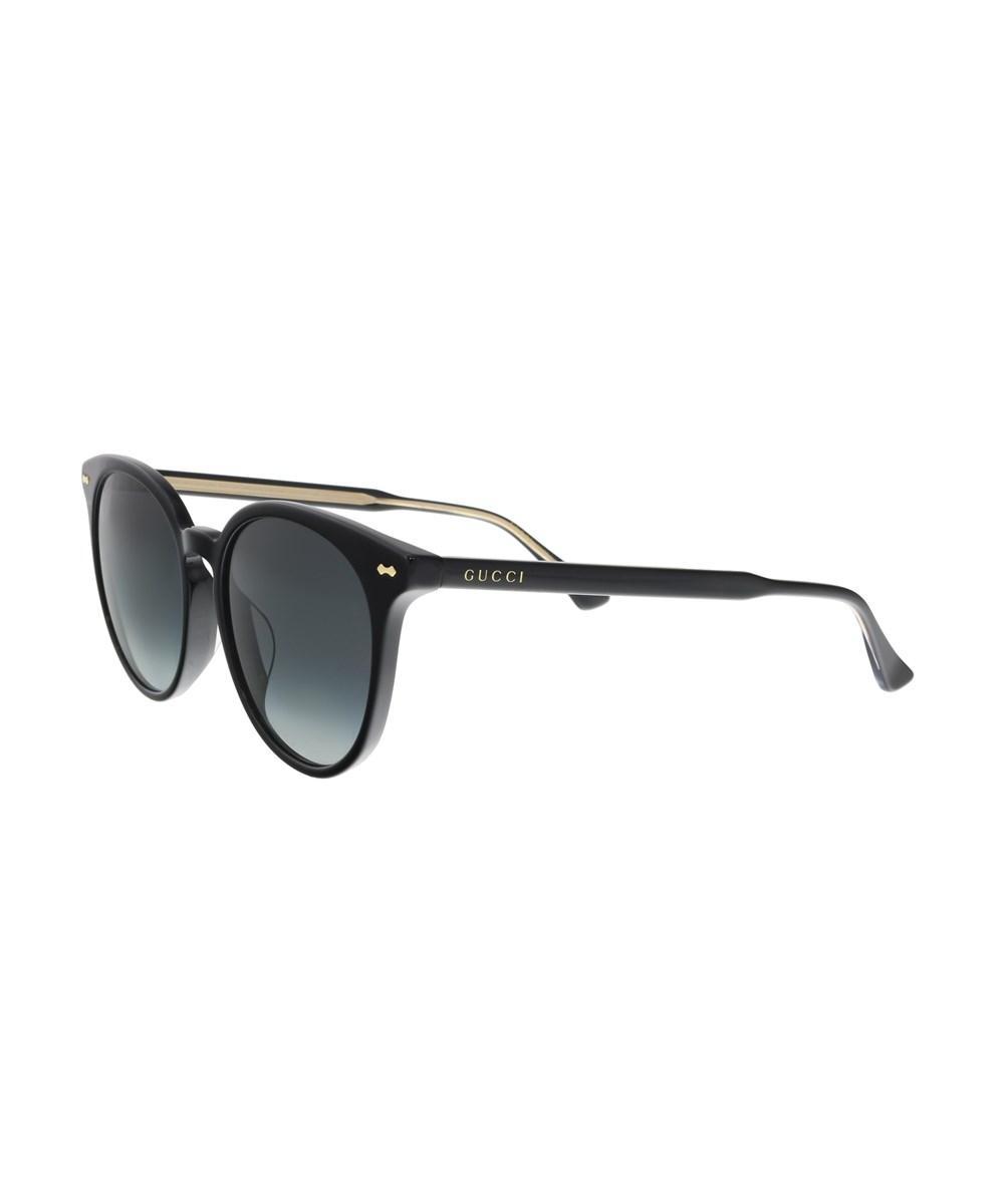 Gucci Gg0195sk 001 Black Cateye Sunglasses