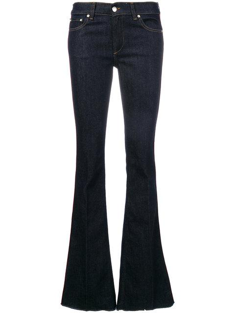 Red Valentino Flared Jeans With Side Band - Blue