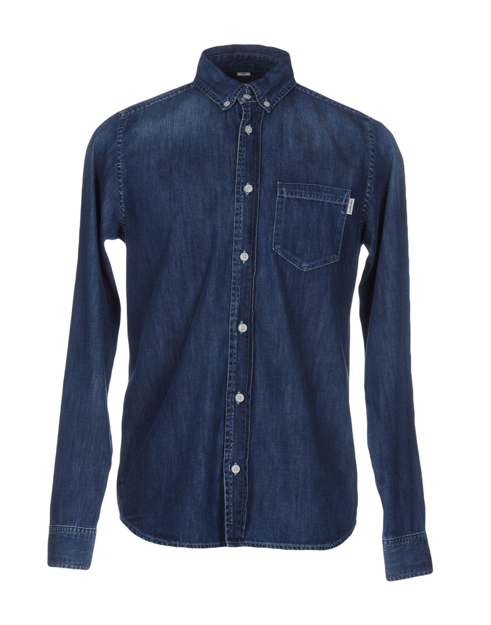 Carhartt Denim Shirts In Blue