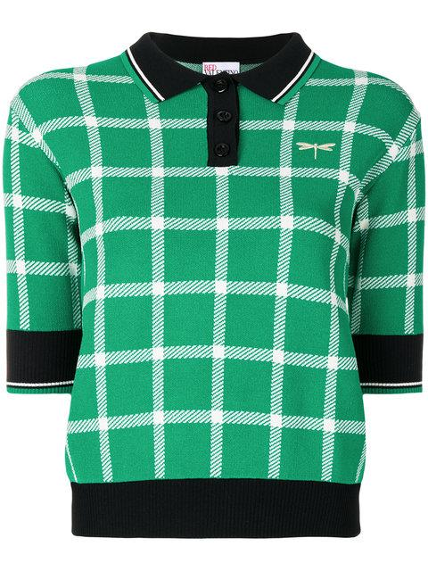 Red Valentino Cropped Polo Shirt